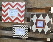 Cream, Chocolate Brown and Georgia Clay Grouping of Distressed Picture Frames