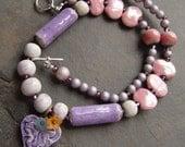 Kazuri Beads and Handmade Pottery Beads Necklace