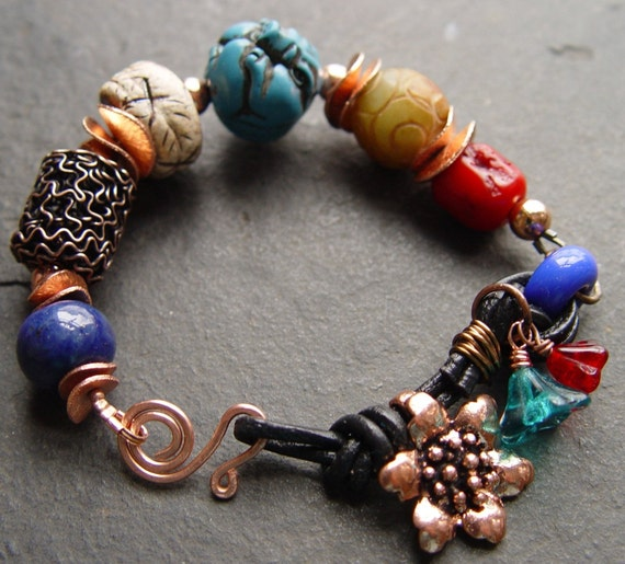 Bead Collection - Beautiful Beads Bracelet with Copper and Chinese Horoscope Pig Bead