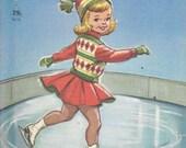 1959 Little Skater    Ice Skating Rand McNally Elf Book