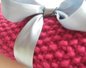 20% off Baby Blanket - ultra soft wool with a touch of cashmere - dark rose pink