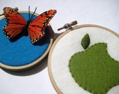 Mother's Day Hoop Art - Apple & butterfly