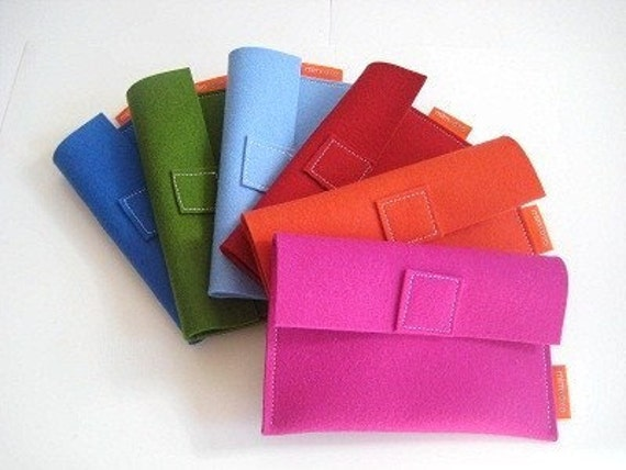 Accessories Case in pure wool felt - six color options