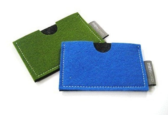 Wallet / Card Case in pure wool felt