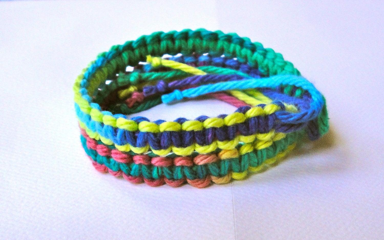 tropical tie dye friendship bracelets two bracelets. Black Bedroom Furniture Sets. Home Design Ideas