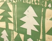 Christmas Wrapping Paper, Screenprinted, 3 Sheets