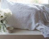 Ruffled Linen Pillowcase