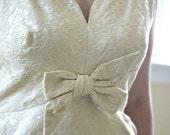 60s short wedding dress party dress by Bonwit Teller medium prom dress