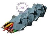 craft blue pencil case DIY KIT put&pull