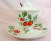 Shabby Chic Tea Set Fake Hot Cocoa Hot Chocolate Fake Food Display Home Decor Tea Cup & Saucer