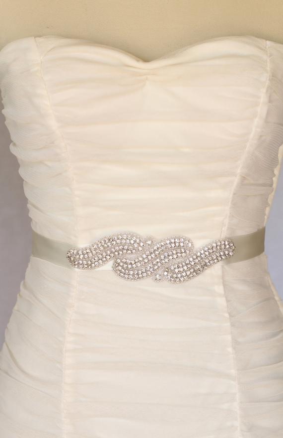 Kim bridal belt  sash,  beaded rhinestone bridal sash, belt, wedding sash, rhinestone sash