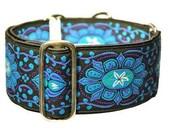 Jewels Jacquard Martingale Collar - 2 Inch - Black, Blue, Purple