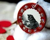 Keepsake PENDANT christmas ornament necklace cat by Redstreake