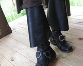 Leather Buckled Boot Stra...