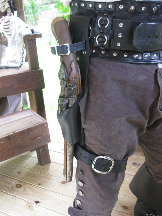 Leather Flintlock Leg Holster