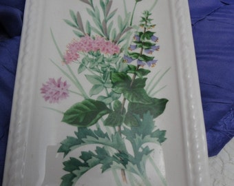 Avon Floral Spoon Rest Wall Hanging