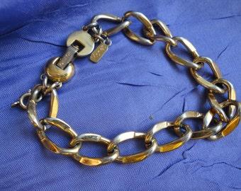 Vintage Monet Gold Tone Linked Bracelet