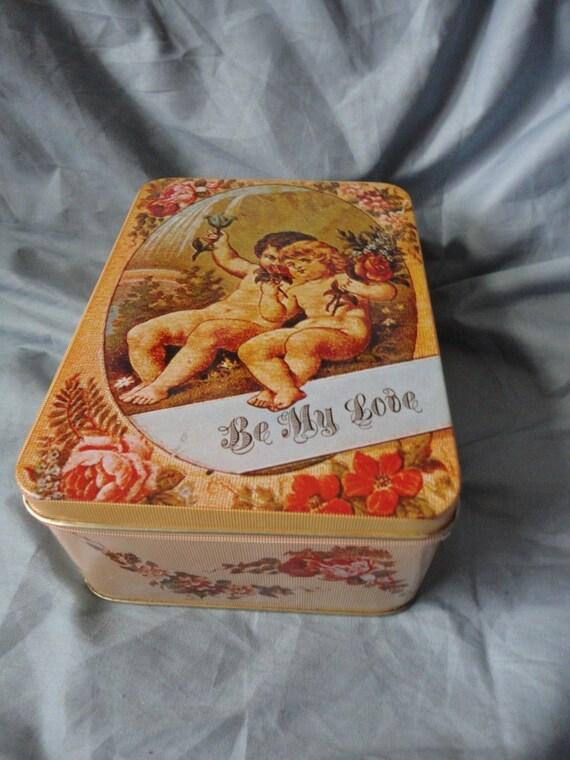 Sweet Victorian Style Valentine Tin Box by Enesco