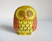 Paper Mache Retro Owl Vase