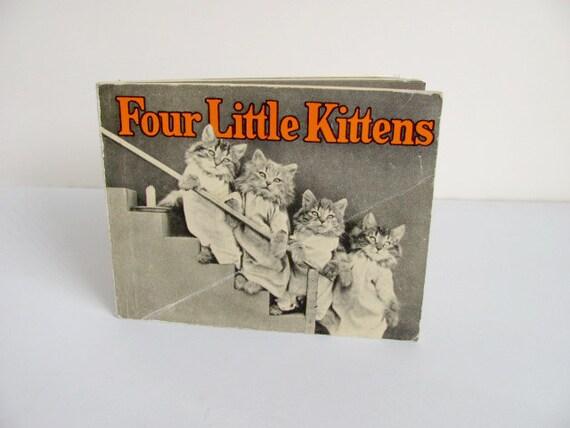 Four LIttle Kittens 1982 Book