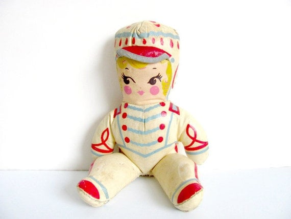 Majorette Oil Cloth Canvas Doll
