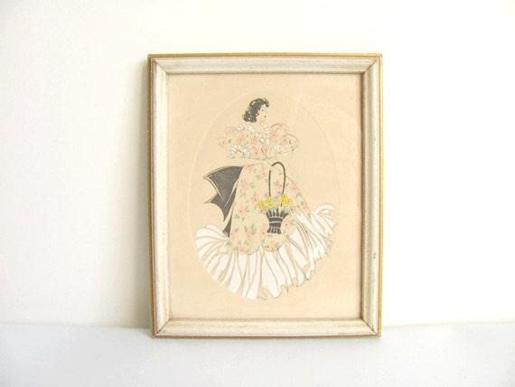 Framed Illustration of a Woman