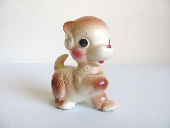 FIVE DOLLARS Silly Puppy Ceramic Figurine