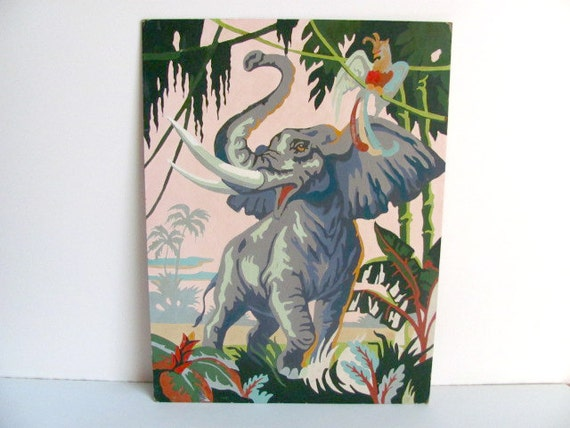 Colorful Elephant Paint by Number