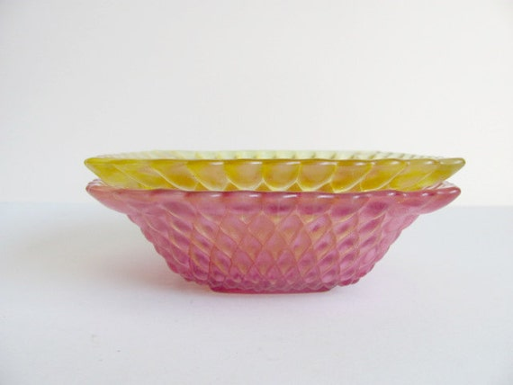 Spring Yellow and Pink Candy Dishes