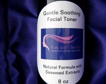 Gentle Soothing Facial Toner Natural Formula with Seaweed Extracts Normal to Dry Skin Best Seller 8 oz