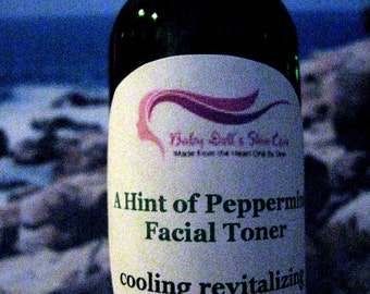 Cool Revitalizing Skin Quencher Facial Toner Mist for Combination Skin Light Peppermint Scented 3 oz Spray