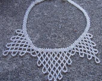 Snow Queen Lace Necklace (Victorian Edwardian Goth Gypsy Fantasy)