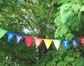 Reserved listing for Jonathan Heart: Happy Birthday Bunting Banners