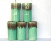 Mint Green Glasses : Vintage Tumblers