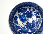 Antique Blue and White Dish : Made in Japan