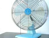 Vintage Electric Fan : Aqua Blue