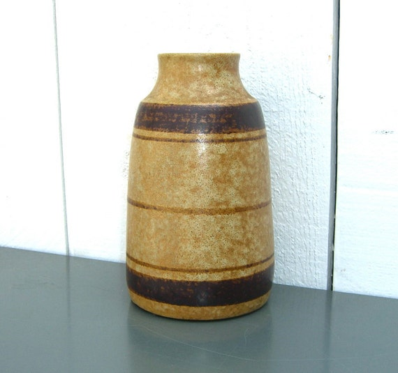 Signed Pottery Craft Stoneware Vase, Made in USA
