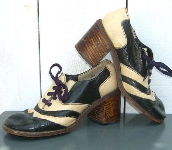 vintage disco platform shoes 1970 s by ourmodernhistory on