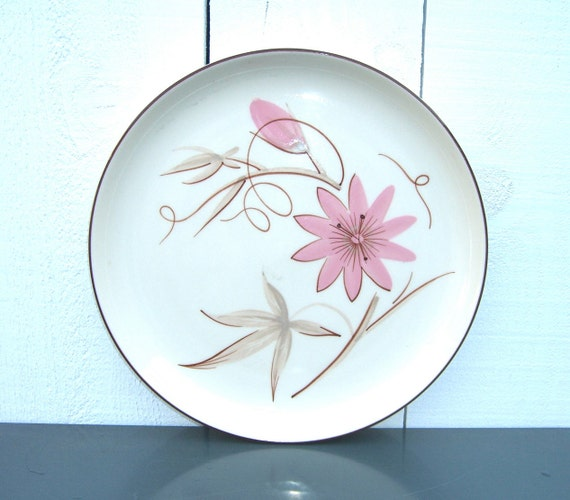 Winfield China Passion Flower Plate California 1950's