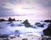 Purple Wall Art, Whimsical Ocean Photograph, Lavender, Nursery Wall Art, Seascape Beach Photograph,