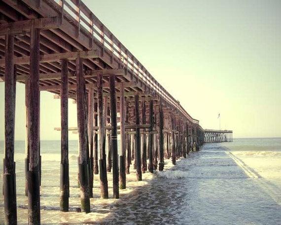 Ventura California Pier Print, Beach Decor, Ventura Wall Art, Beach Photography, Summer Beach Wall Art