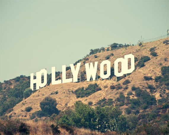 Hollywood Sign Photograph, Los Angeles California Wall Art, Retro Summer, Iconic, Hollywood Wall Art