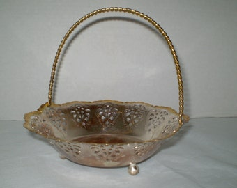 Vintage WMF Ikora Basket, Beautiful 2 Tone Candy Basket Made in Germany 1940s1950s, Home Decor, Table Ware, Serving Ware