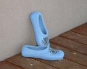 Felted slippers - felted Slippers Lightning in the Blue Sky Handmade - Mother's day gift