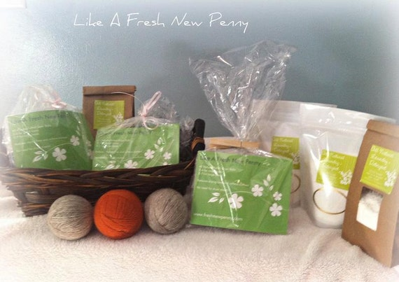 All Natural Start Up Kit-Laundry Detergent AND 3 Felted Dryer Balls