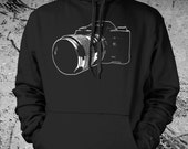 Vintage Camera Sweat Shirt SLR Hoodie Silkscreen Photography