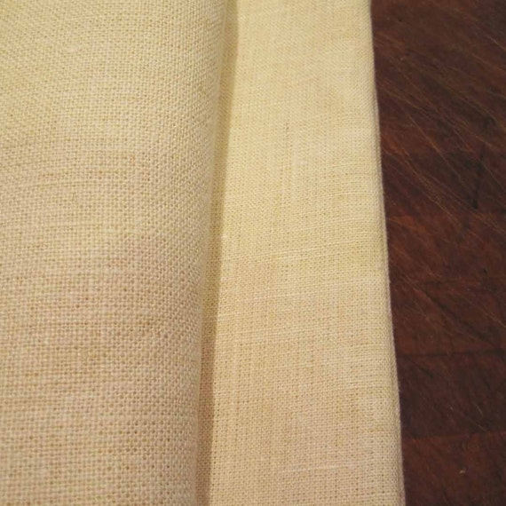 One Yards of 100% Hemp Fabric, Linen like, Natural, Green Fiber, Off White Color, Washable, Dyeable, Durable, from Mateacogreen
