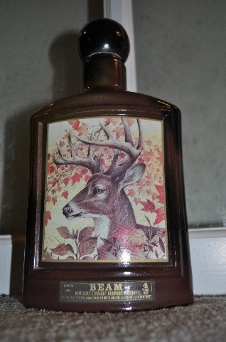 White Tail Deer Jim Beam Vintage Bottle