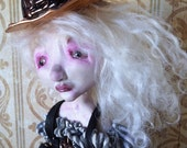 Art doll Steampunk OOAK Victorian style doll Ash RESERVED Balance for 5cat
