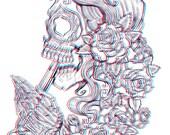 3D Art Print - Suicide Sin